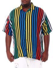 Big & Tall - Stripe Printed Shirt (B&T)-2534391