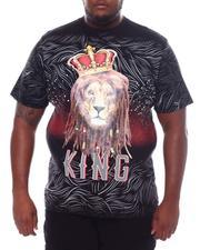 Short-Sleeve - Lion Crowned King Tee (B&T)-2534477