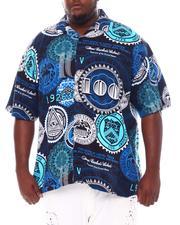 Big & Tall - 100 Dollars All Over Printed Woven Shirt (B&T)-2534539