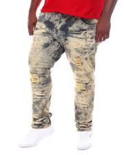 Makobi - Shredded Jeans With Contrast Underlay (B&T)-2534399