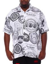 Big & Tall - 100 Dollars All Over Printed Woven Shirt (B&T)-2534481