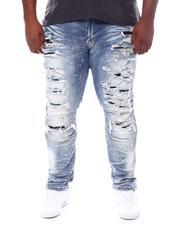 SMOKE RISE - Distressed Moto Knee Jeans (B&T)-2531722