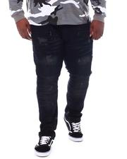 Big & Tall Faves - Rip & Repair Biker Jeans (B&T)-2534510