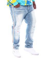 Big & Tall - Side Tape Shredded Jeans (B&T)-2534588