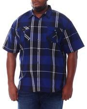 Big & Tall - Plaid Woven Shirt (B&T)-2534835