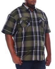 Big & Tall - Plaid Woven Shirt (B&T)-2534858