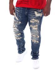 Big & Tall - Distressed Rip & Tear Moto Jeans (B&T)-2531729