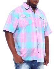 Big & Tall - Plaid Woven Shirt (B&T)-2534847