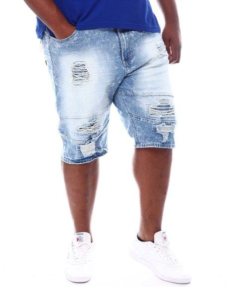 Makobi - Sand Shredded Denim Shorts (B&T)