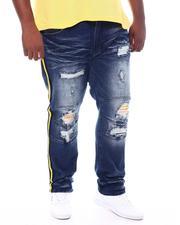 Big & Tall - Contrast Side Tape Jeans (B&T)-2534549