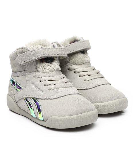 Reebok - Free Style HI Fur Sneakers (2-10)