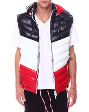 Buyers Picks - CHEVRON GLAZED NYLON PUFFER VEST W HOOD BY ROBERT PHILLIPE-2534142