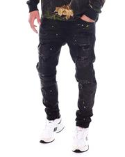 Jeans & Pants - Ripped Moto Jeans w Paint Splatter-2533974