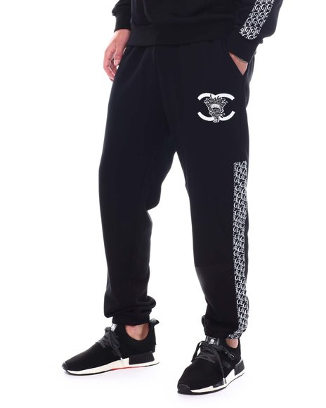 Crooks & Castles - Lux Applique & Embro Sweatpant