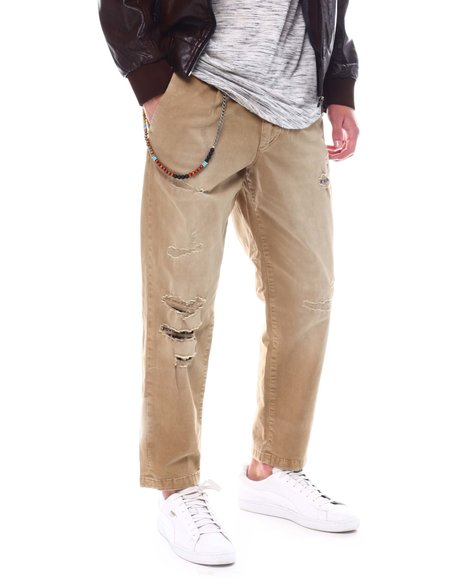 Jack & Jones - Distressed Khakis with side chain