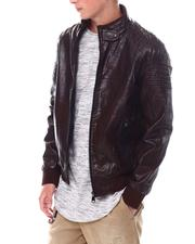 Outerwear - PU Bomber Jacket-2534112