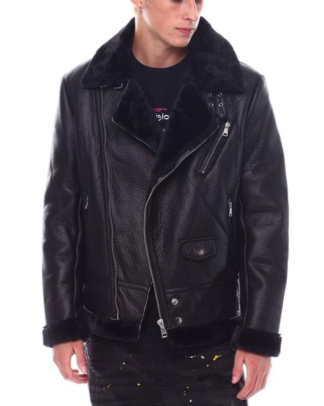 Buyers Picks - FAUX SHEARLING MOTO JACKET