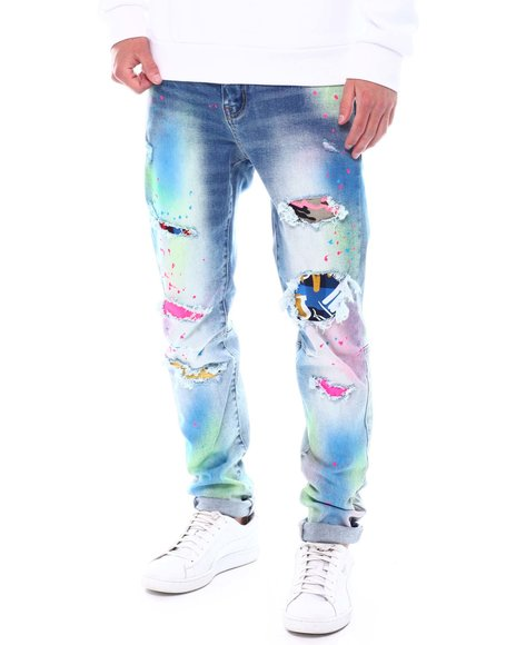 Kloud 9 - Candy Spray Painted Jean