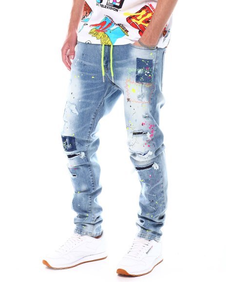 Kloud 9 - Rip and Patches Splatter Jeans