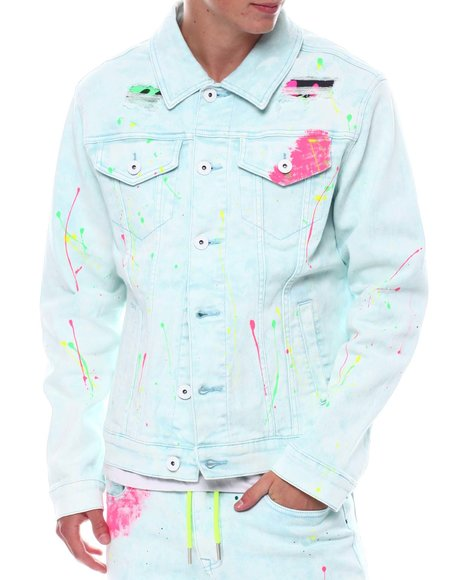Kloud 9 - Pastel Splatter Denim Jacket