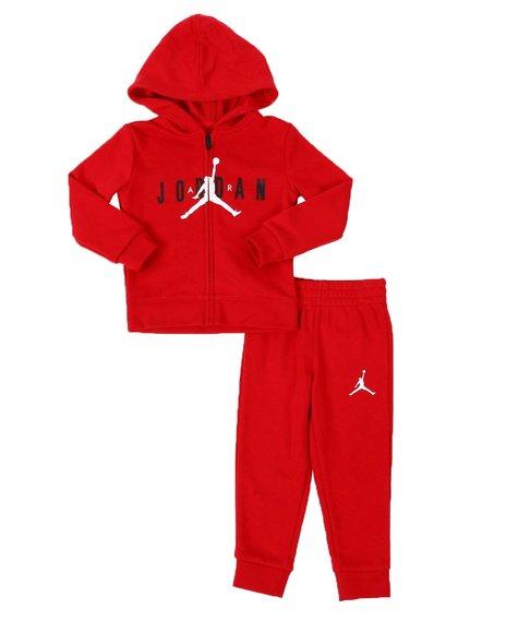 Air Jordan - JDB Jumpman Air FZ French Terry Hoodie & Jogger Pants Set (2T-4T)