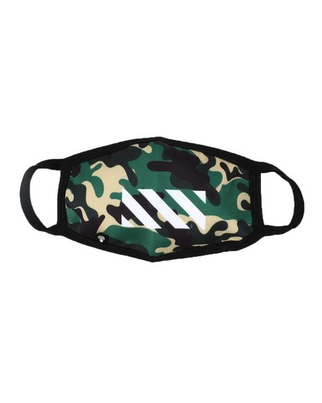 Rebel Minds - Woodland Camo Neoprene Face Mask (Unisex)