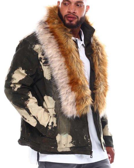 Makobi - Fur Collar Denim Jacket (B&T)