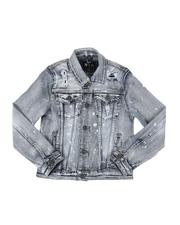 Outerwear - Distressed Denim Trucker Jacket (8-20)-2535274