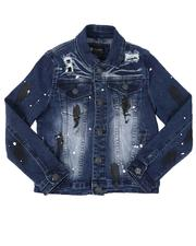 Outerwear - Distressed Denim Trucker Jacket (8-20)-2535284