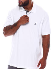 Big & Tall Faves - Short Sleeve Solid Anchor Deck Polo (B&T)-2536080