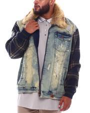 Makobi - Makobi Denim Jacket W/Plaid Contrast (B&T)-2536190