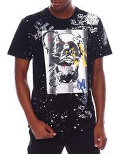 SMOKE RISE - Paint Splatter Skull Tee-2536841