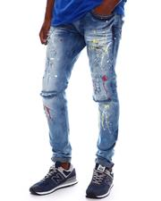 Copper Rivet - Paint Splatter Jean-2536420