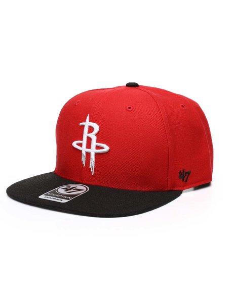 '47 - Houston Rockets Red No Shot Two Tone 47 Captain Cap