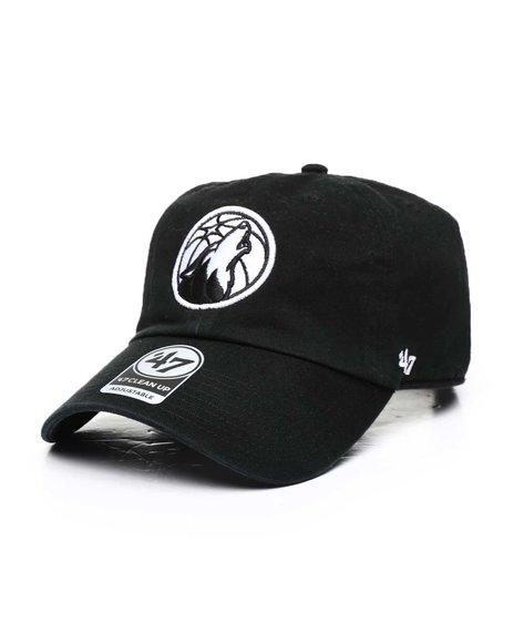 '47 - Minnesota Timberwolves Black 47 Clean Up Cap