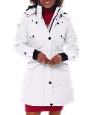Fashion Lab - Hooded Puffer Jacket W/Faux Fur Trim Hood-2537786