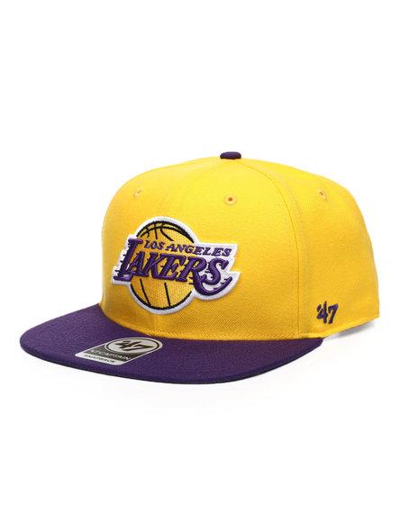 '47 - Los Angeles Lakers Yellow Gold No Shot Two Tone 47 Captain Cap