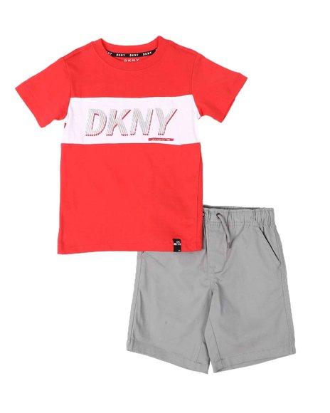DKNY Jeans - 2 Pc DKNY Logo Tee & Shorts Set (4-7)