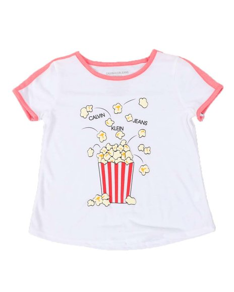 Calvin Klein - Popcorn Logo Taped Shoulder Tee (7-16)