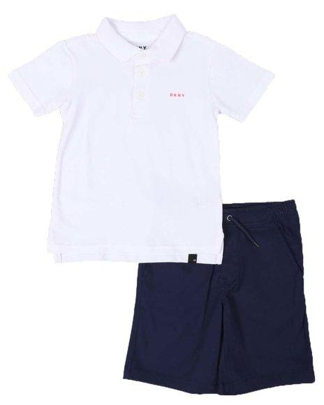 DKNY Jeans - 2 Pc DKNY Polo & Shorts Set (4-7)