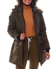 Fashion Lab - Hooded Padded Coat W/ Zipper Chest Pockets & Bottom Patch Pockets-2537796
