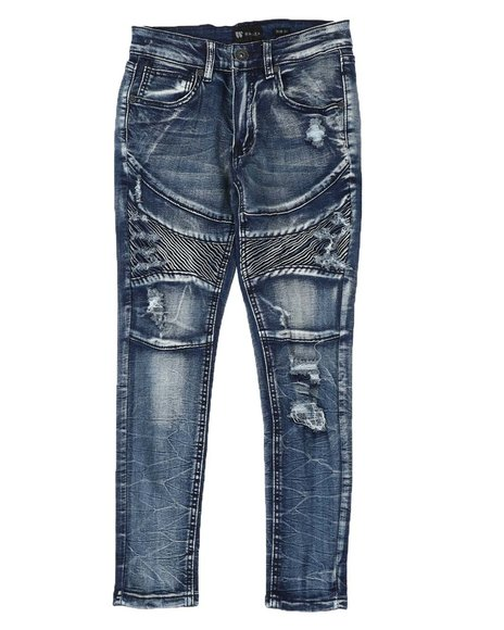 Arcade Styles - Moto Distressed Jeans (8-20)