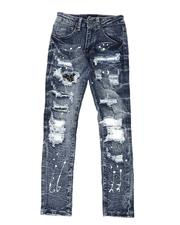 Arcade Styles - Bleach Splatter Destructed Jeans (8-20)-2538189
