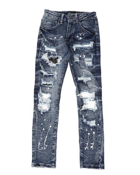 Arcade Styles - Bleach Splatter Destructed Jeans (8-20)