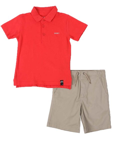 DKNY Jeans - 2 Pc DKNY Polo & Shorts Set (4-7)