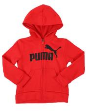 Puma - No. 1 Logo Pack Fleece Zip Up Hoodie (4-7)-2537811