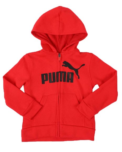 Puma - No. 1 Logo Pack Fleece Zip Up Hoodie (4-7)