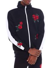 Track Jackets - Flower Embroidered Track Jacket-2538812