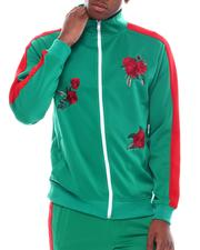 Track Jackets - Flower Embroidered Track Jacket-2538859