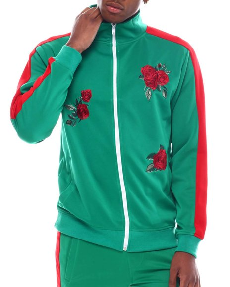 Buyers Picks - Flower Embroidered Track Jacket